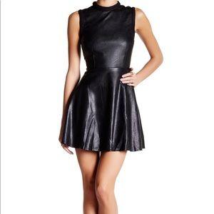 Honey punch leather black dress